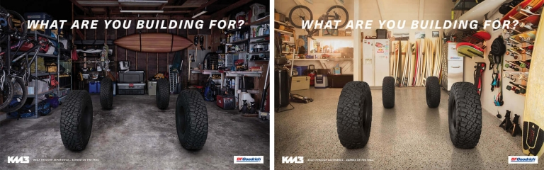four tires captioned with what are you building for