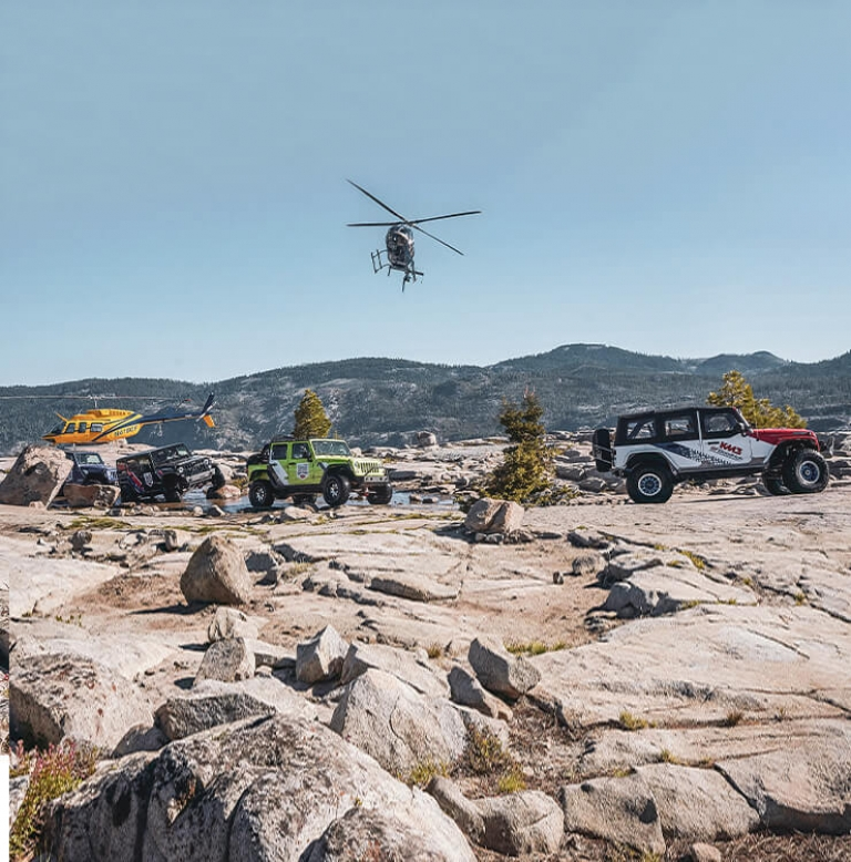 jeeps with helicopters