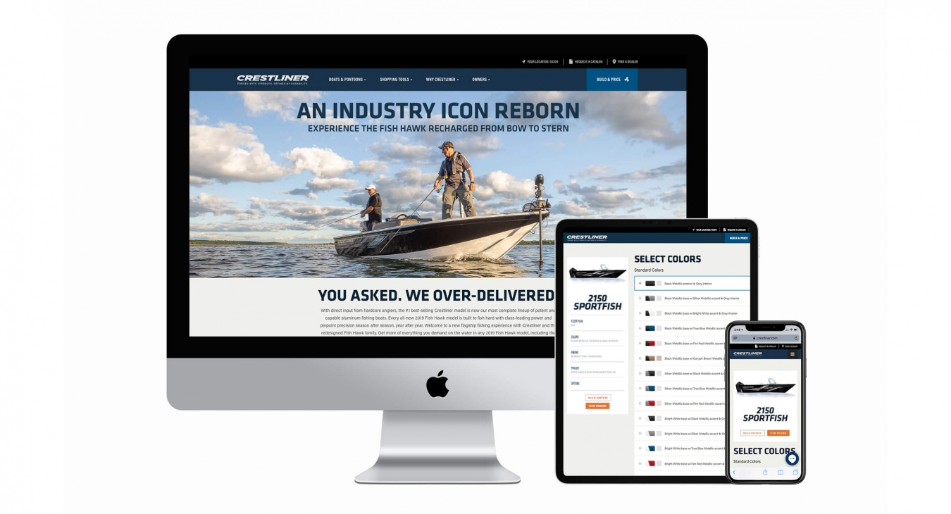 showcase of the website on different devices