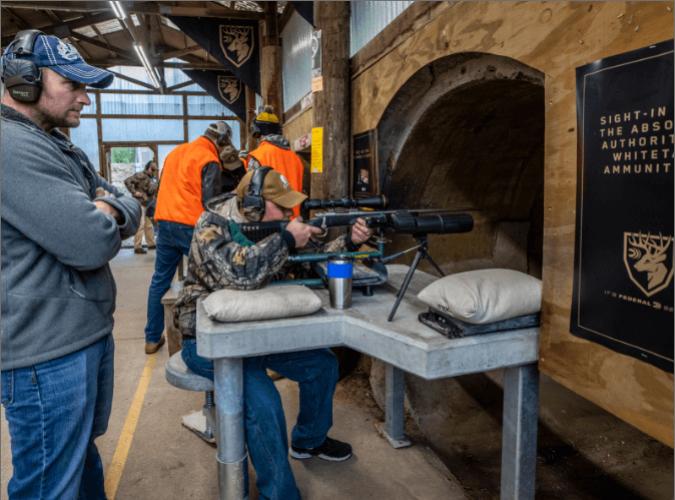 hunters at the shooting range
