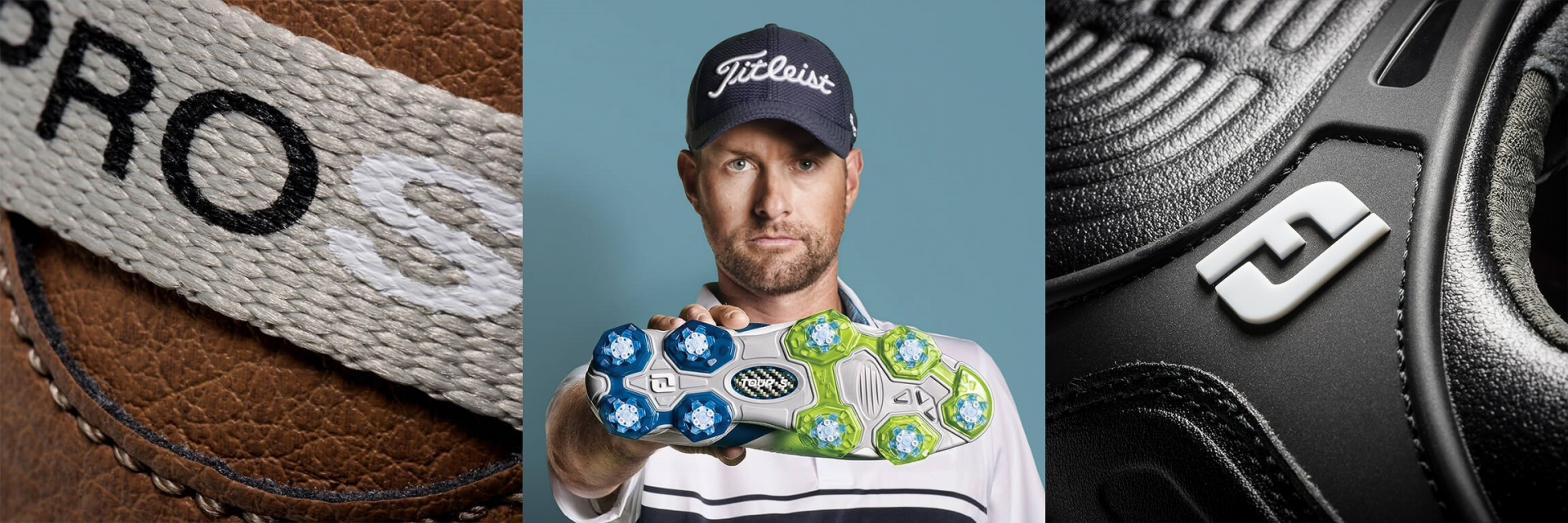 three images featuring footjoy products