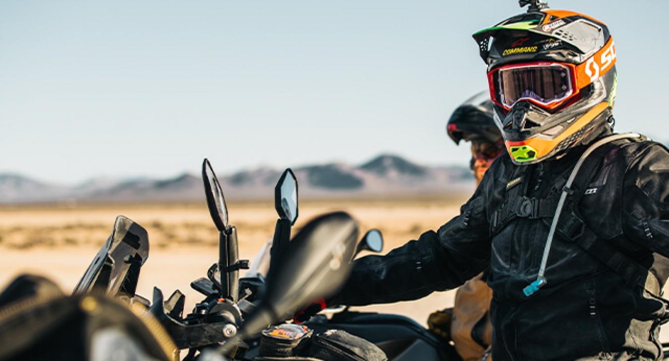 racer on dirt bike