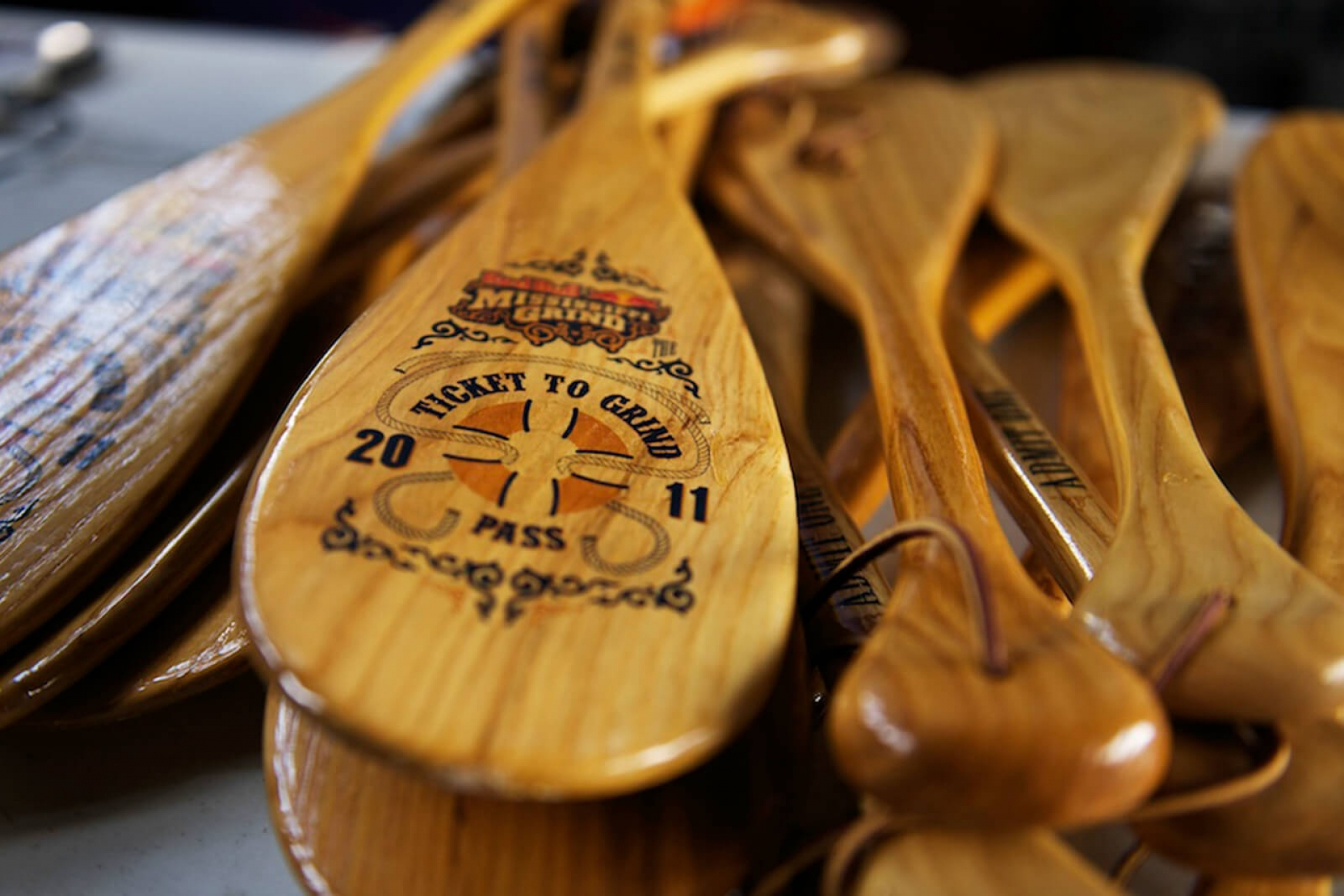 paddle with branding on it