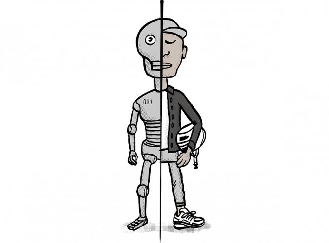 half robot half human