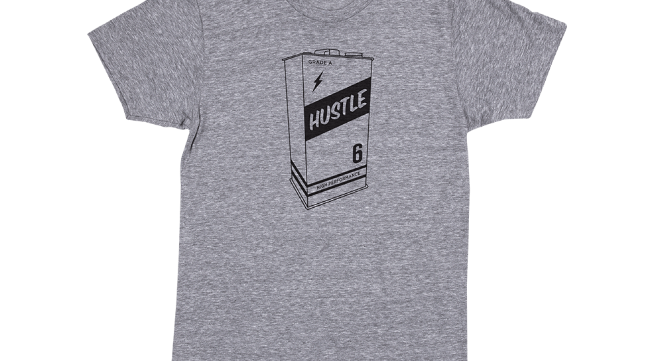 2011 can of hustle t-shirt